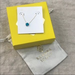 Kendra Scott Annaliese Teal Agate & Gold Necklace